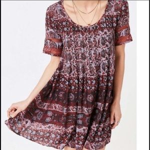 urban outfitters ecote pleated dress